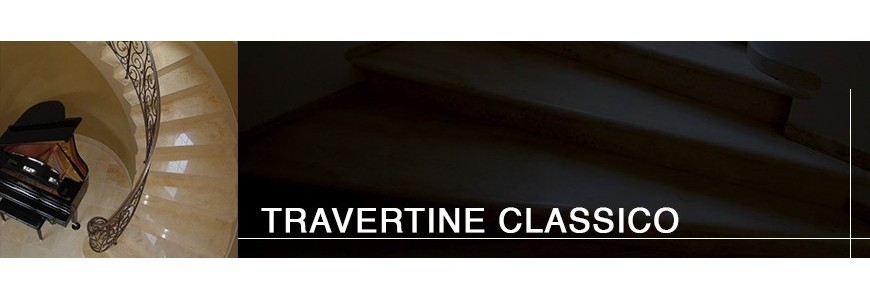 Travertine Classico Step Treads / Stair Tiles