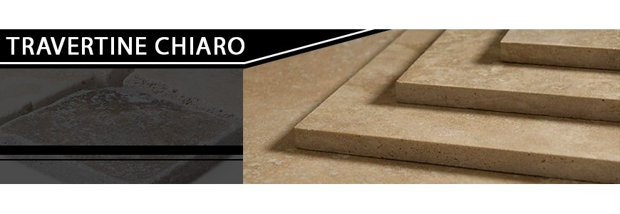 Travertine Chiaro Step Treads / Stair Tiles