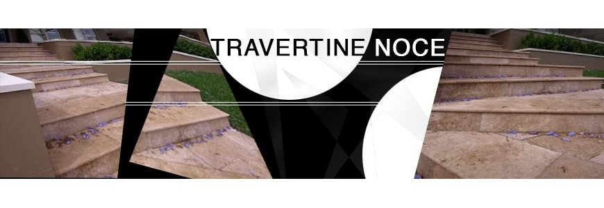 Travertine Noce Step Treads / Stair Tiles