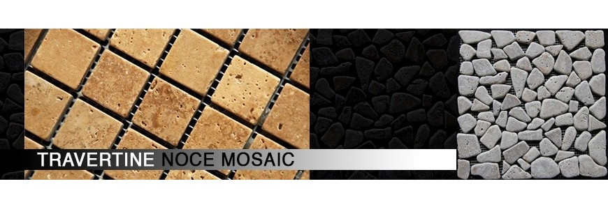 Travertine Noce Mosaic | Bathroom & Kitchen Tiles
