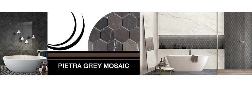 Pietra Grey Mosaic Limestone | Bathroom & Kitchen Tiles