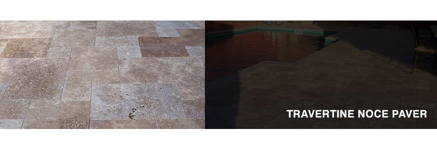 Travertine Noce Stone Paver | Outdoor Paving Stone
