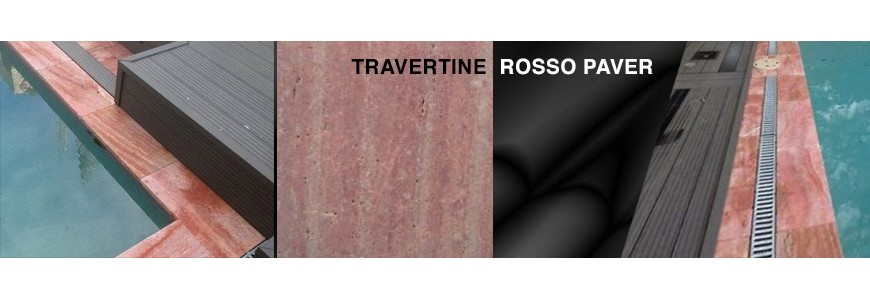 Travertine Rosso Stone Paver | Outdoor Paving Stone