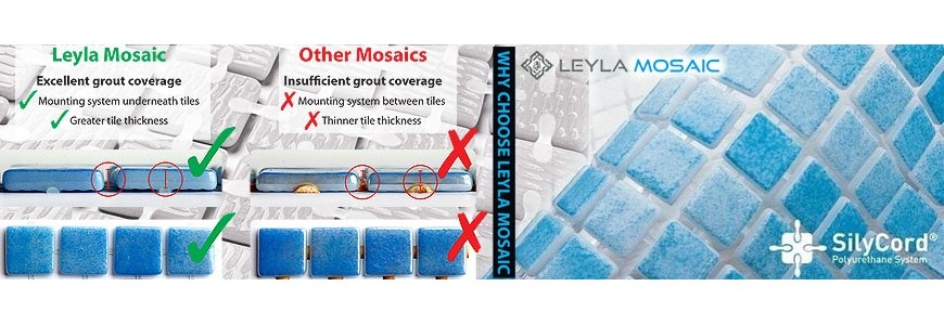 Leyla Glass Mosaic Tile