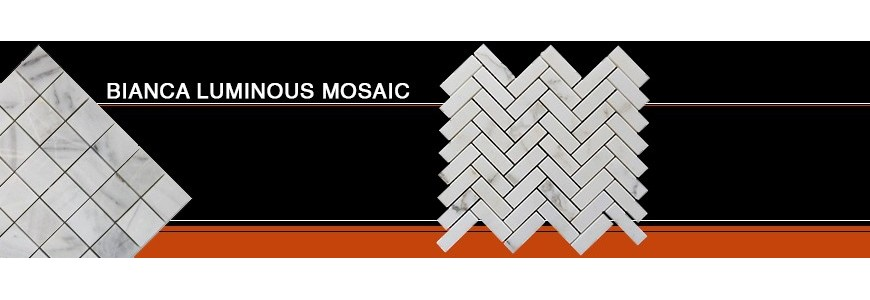 Bianca Luminous Mosaic Marble | Bathroom & Kitchen Tiles