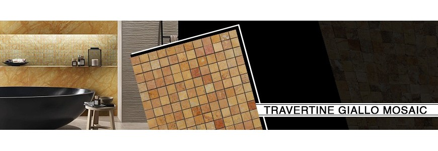 Travertine Giallo Mosaic | Bathroom & Kitchen Tiles
