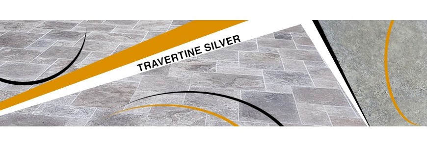 Travertine Silver Tumbled Tiles
