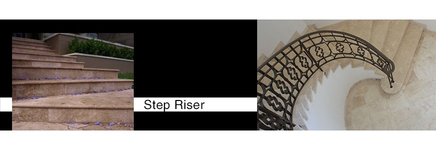 Natural Stone Step Riser / Stair Tiles