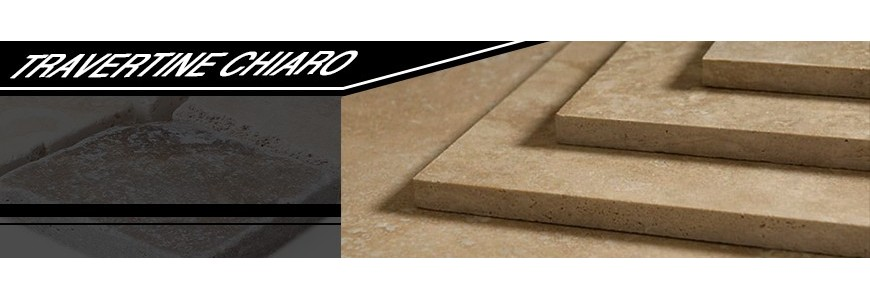 Travertine Chiaro Step Riser / Stair Tiles