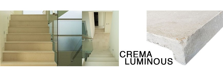 Crema Luminous Step Riser / Stair Tiles