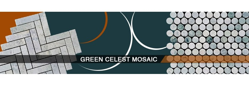 Green Celest Marble Mosaic Tile | Marble & Ceramic Corp