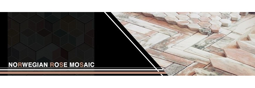 Norwegian Rose Marble Mosaic Tile | Sydney And Melbourne Supplier