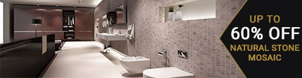 Natural Stone Mosaic Bathroom Tiles 63% Off